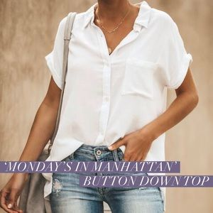 'Monday's In Manhattan' Button Down Top